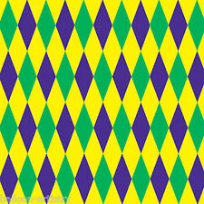 Mardi Gras Carnival Party Scene Setter Room Roll Backdrop - HARLEQUIN Pattern