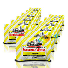 12x Fisherman's Friend Sugar Free Lemon Menthol Lozenges Sweeteners 25g