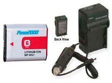 Battery + Charger for Sony DSC-W125 DSC-W130 DSC-W130/B DSC-W130/P DSC-W150/B