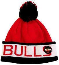 Bonnet à pompon MITCHELL And NESS - NBA - Chicago BULLS - Block Cuff
