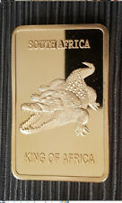 1 Oz Gold bullion Bars bar Krügerrand Crocodile Rare 999 24K magnification