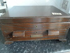 VINTAGE 1940'S  WOODEN CANTEEN CUTLERY BOX 63 PIECES WITH LABLES 6 PLACE SETTING