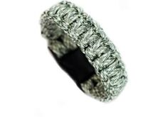Paracord Survival tactical Bracelet Cord Buckle With Whistle New Shiny Gray Camo