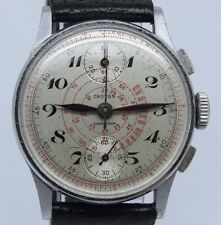 VINTAGE Croton Chronograph Mens 32mm Watch Up Down Venus 170 Original Dial
