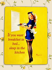 Retro Vintage sexy Pin Up humour Kitchen decorative Plaque Metal wall door Sign