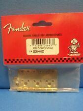 Fender Strat Bridge Plate Vintage Gold Left Hand   0038960000