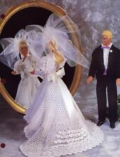Springtime Bride & Groom Barbie/Ken Doll Outfits Annie's Crochet Pattern NEW