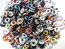 Czech glass ring O spacer beads color mix 8 mm pack of 30
