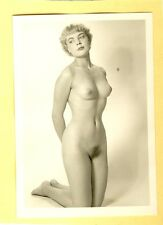 "d291 # Photo c.1960 Pin-up girl nude nudo nu Akt nackt Busen Studio ""Agfa Lupex"""