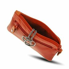 Visconti RB69 Multi Color Soft Leather Coin Purse Key Wallet With Key Chain Red