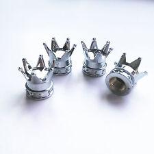 Chrome Imperial King Car Crown Tyre Tire Wheel Valve Stems Air Dust Cover Cap
