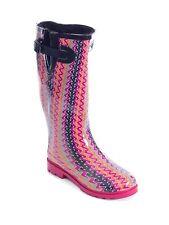 Women Warm Waterproof Rubber Rain Boots *  Faux Fur Lined & Knit Top Cuff Styles