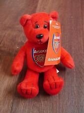 Soft toy teddy bear, football bear, Arsenal, red with label