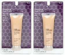 2 New Sealed Vital Radiance Smoothing Face Primer Apricot Warm Oil Free SPF 25