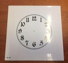 "Spare cream paper clock dial 4 1/2""   Any Brand  .Arabic numerals Gloss"