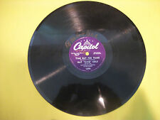 Nat Cole - Time Out For Tears - Get To Gettin - Capitol 78 RPM - NMINT