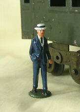 "Edwardian Man in Straw Hat, 2-1/4"" (1:32) train figure, Reproduction Johillco"