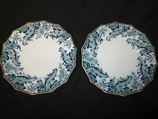 WH GRINDLEY ENGLISH PORCELAIN PAIR OF SALAD PLATES  PATTERN ARGYLE