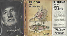 IAN FLEMING OCTOPUSSY AND THE LIVING DAYLIGHTS UK DJ UNCORRECTED PROOF 1966 RARE
