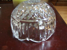 Crystal glas clear candle shade heavy (REDUCE