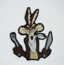 "WILE E. COYOTE Embroidered Iron-On Patch - 3 1/2"" - Looney Tunes.- Acme Corp."