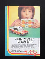 F209 - Advertising Pubblicità - 1982 - HOT WHEELS CON IL PIENO DI ARANCIATA