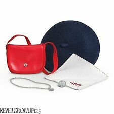 AMERICAN GIRL MOLLY'S MEET ACCESSORIES~BERET~PURSE~LOCKET~PENNY~NIB