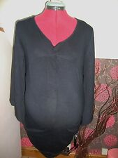 BNWT Ladies MATERNITY Black Pretty Batwing Sleeve  Top Size 10