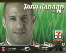 "2010 Tony Kanaan 7-Eleven ""1st issued"" Honda Dallara Indy Car postcard"