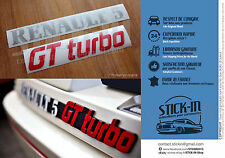 Autocollant Stickers Renault R5 GT Turbo Renovation Monogramme Logo Coffre Rear