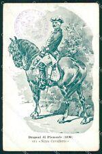 Militari Dragoni di Piemonte Nizza Cavalleria I Reggimento cartolina QT7935