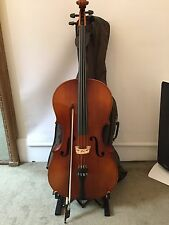 3/4 Size East German Musima Cello Outfit Bow & Quality Padded Cover