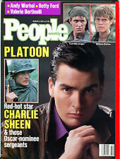People Magazine March 9 1987 Platoon Charlie Sheen Andy Warhol EX 012216jhe