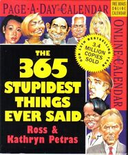 2 Desk Calendars:007James Bond, 365 Stupidest Things ever Said:Trump,Hillary NEW