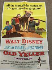 Old Yeller  Original One Sheet  R/74 Walt Disney  Dorothy McGuire  Fess Parker