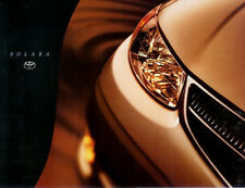 TOYOTA  SOLARA INTRODUCTORY  BROCHURE FOLDER