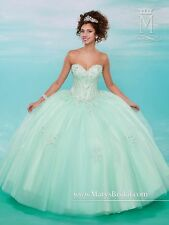 Mary's Quinceanera XV Sweet 15 Prom Dress Ball Gown 4616 Mint Green size 14