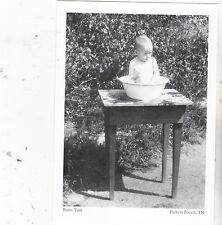 "*Postcard-""Bath Time""-Wash Pan for Babies- ..-1920's-  *Pigeon Forge, TN (#124)"