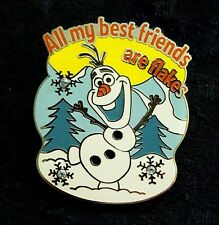 Pin 112058 Olaf - All My Best Friends are Flakes pin with Crystal Pave