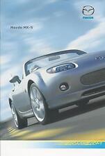 MAZDA mx5 accessori UK Opuscolo del mercato 2005 24 pagine in ottime condizioni