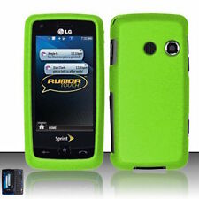 For LG Rumor Touch LN510 Banter Touch UN510 Hard Case Phone Cover Rubber Green