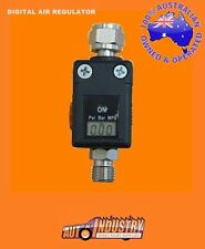 NEW! ADJUSTABLE DIGITAL MINI AIR REGULATOR FOR AIR TOOLS & HVLP SPRAY GUNS 1/4""