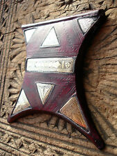 Niger Tuareg pink purpley colour tarnished leather amulet pendant.