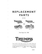 Triumph Parts Manual Book 1957 Terrier & 1957 Tiger Cub