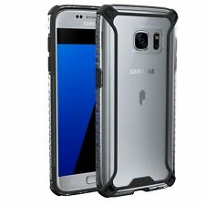 For Samsung Galaxy S7 Poetic Affinity Series Premium Thin Cover Case Black/Clear