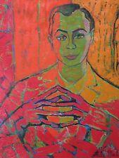 Rare huile sur toile de Stella Mertens(1896-1986), Surréalisme.