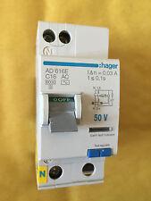 HAGER ad616e 2 POLO 16A 30mA Tipo C dell' interruttore differenziale RCCB 50Hz