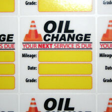 54 Generic Oil Change Service Reminder Stickers, High Quality Clear Static Cling