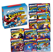 I CAN READ SUPERMAN PHONICS FUN 12 Book Box Set Short & Long Vowel Sounds NEW
