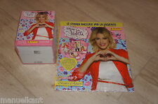ALBUM PANINI DISNEY VIOLETTA 3 STAGIONE + BOX DISPLAY 50 BUSTINE FIGURINE SIGILL